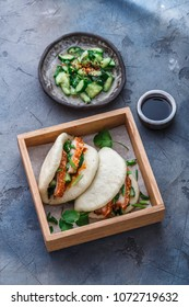 Bao bun with pork belly, steamed sandwich, gua bao