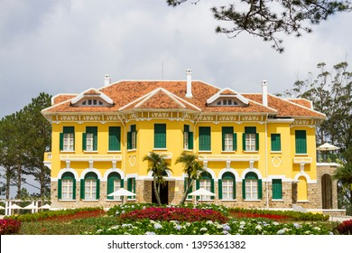 Bao Dai's Palace in Dalat, Vietnam. This is a famous place for travellers in Dalat.