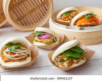 Bao sandwich, Asian street food