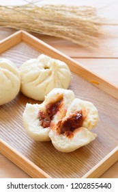 Baozi or bao is a type of filled bun or bread like made with yeast dumpling in various Chinese cuisine.
