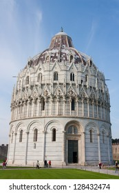 Baptisery of Duomo from Pisa, near Leaning Tower of Pisa.