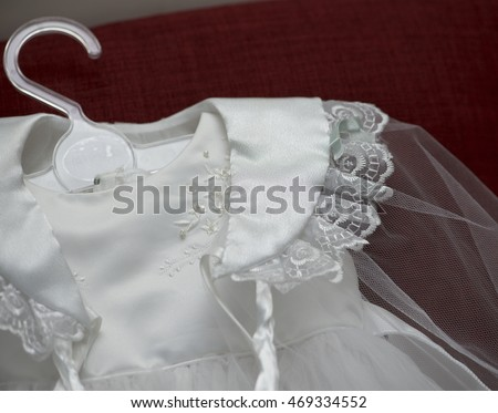 Baptism Baby Girl Clothes Catholic Family Stock Photo Edit Now