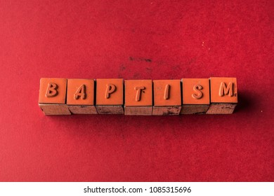 Baptism headline made by letter printers