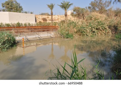 Baptism on Jordan River from Jordan side