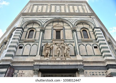 Baptistery of Florence. Detail of the geometrical motives of the fiorentine romanesque.
