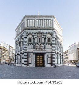 Baptistery of San Giovanni in Florence, Tuscany, Italy. Long exposure shot with motion blur effect