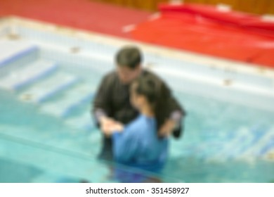 Baptize blur background. Religion concept background.
