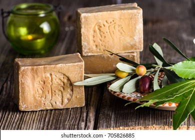 Bar of Aleppo Soaps, traditional Syrian product