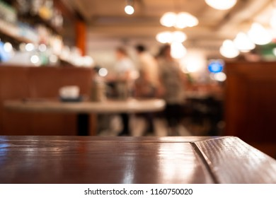 Bar Cafe Restaurant Table top counter blurred background