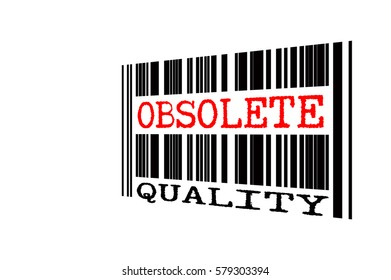 bar code with conceptual text isolated white background