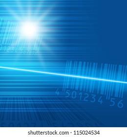 Bar code image material