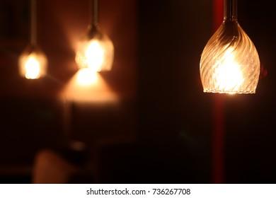 Bar counter interior Lamp