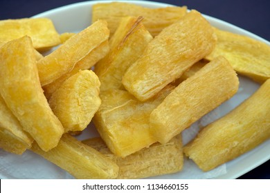 Bar food: fried manioc, snack typical of Brazilian bars