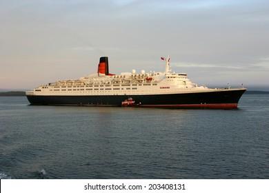 Bar Harbor, USA - October 3, 2007: Queen Elisabeth 2
