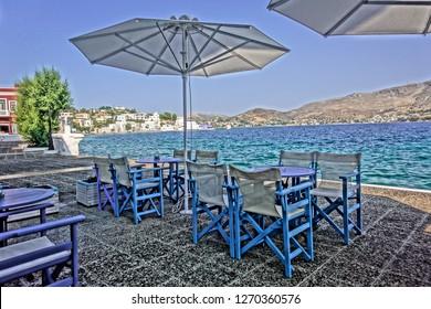 Bar in Leros Greece