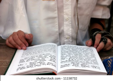 Bar Mitzvah celebrations, ceremonial reading from the Jewish religious book called Torah.