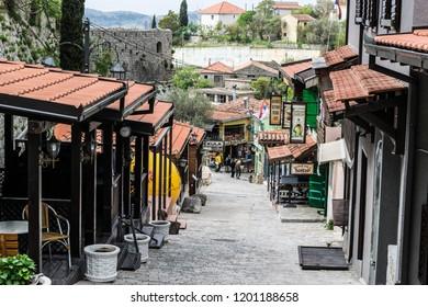 Bar / Montenegro - 04 08 2016:Tourists visiting Stari Grad Bar, the Old Town of Bar