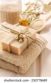Bar of natural handmade soap