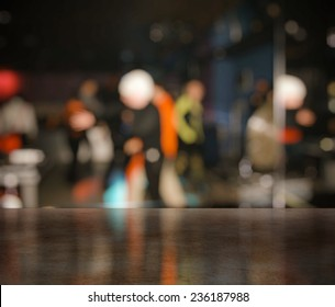 bar in a night club near dancefloor