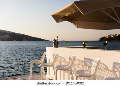Bar Setup with Sea View