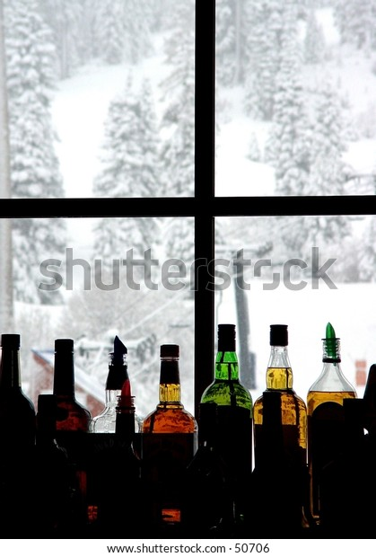 Bar at the ski resort