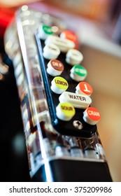 Bar soda gun dispenser close-up picture