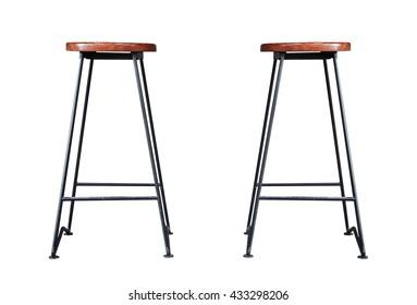 Bar stool isolated on white background, stock photo