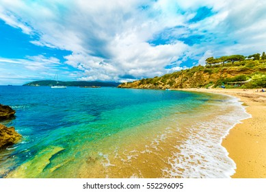Barabarca  beach in Elba Island, Tuscany,Italy.