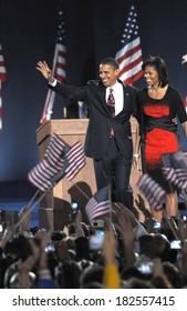 Barack Obama at a public appearance for Barack Obama US Presidential Election Victory Speech and Celebration, Grant Park, Chicago, IL, November 04, 2008