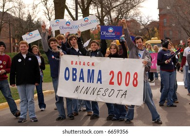 Barack Obama Supporters in a Parade