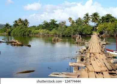 Baracoa, Cuba - Rio Miel bridge, part of Alejandro de Humboldt National Park