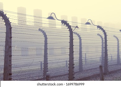 Barb wire fence from Auschwitz