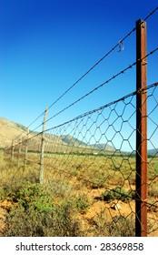 Barb wire landscape