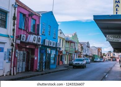 Barbados, Bridgetown - October 26, 2018: Empty Streets of the Caribbean Capital