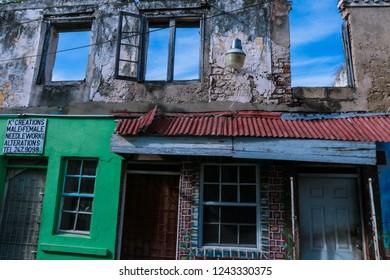 Barbados, Bridgetown - October 26, 2018: Broken House of the Caribbean Capital