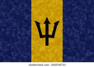 barbados flag polygonal design illustration