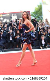 Barbara Palvin  walks the red carpet ahead of the opening ceremony during the 75th Venice Film Festival at Sala Grande on August 29, 2018 in Venice, Italy.