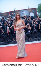 """Barbara Palvin walks the red carpet ahead of the """"Joker"""" screening during the 76th Venice Film Festival at Sala Grande on August 31, 2019 in Venice, Italy."""