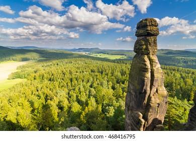 Barbarine Rock in Saxon Switzerland