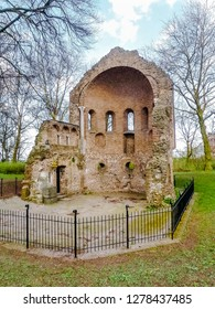 Barbarossa-ruins part of the valkhof in the old city of Nijmegen in the Netherlands, Holland. Europe.