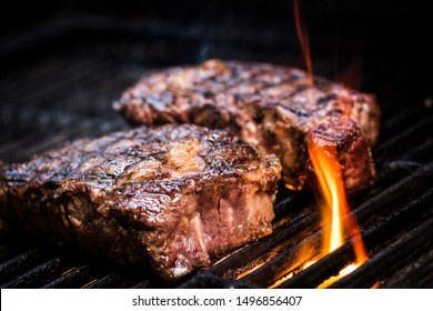 Barbecue ancho steak. Ancho steak on the barbecue
