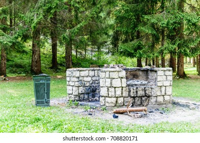 Barbecue area in the park