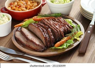 barbecue beef brisket, texas style