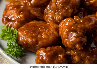 Barbecue Boneless Chicken Wings with Blue Cheese