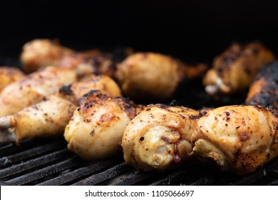 Barbecue chicken on a grill