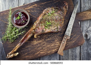 Barbecue Hauch of Venison on Cutting Board