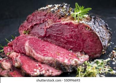 Barbecue Kobe Rib Eye Steak - Very Rare