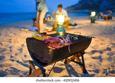 Barbecue on the beach, Huahin, Thailand