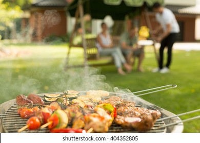Barbecue party - delicious food on the grill