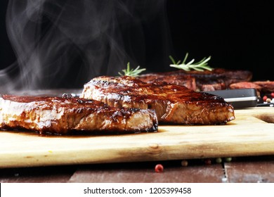 Barbecue Rib Eye Steak Rump Steak Stock Photo (Edit Now
